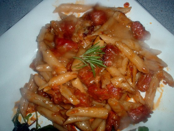 Chorizo and Taleggio Penne