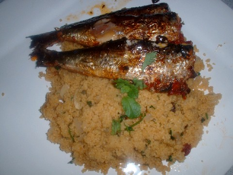 Sardines and couscous