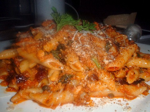 Sicilian style pasta with tomato