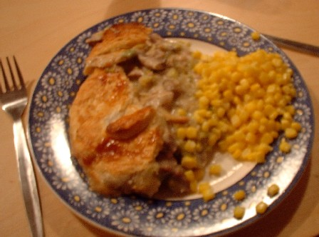 Student turkey and leek pie