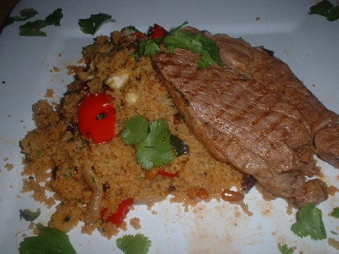 Lamb with vegetable couscous