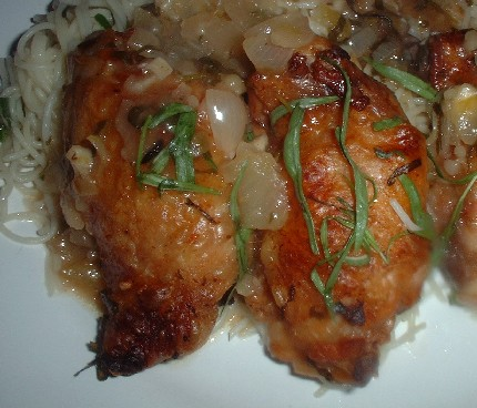 Lemon tarragon chicken thighs