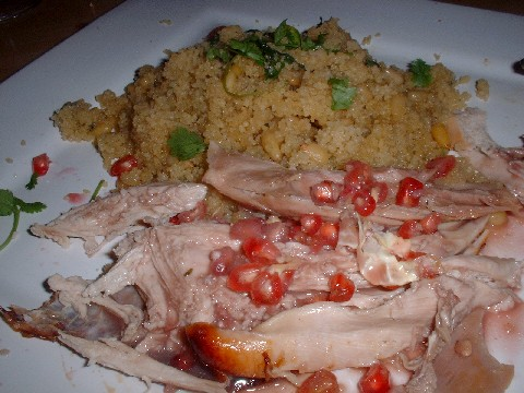guinea fowl and pomegranate