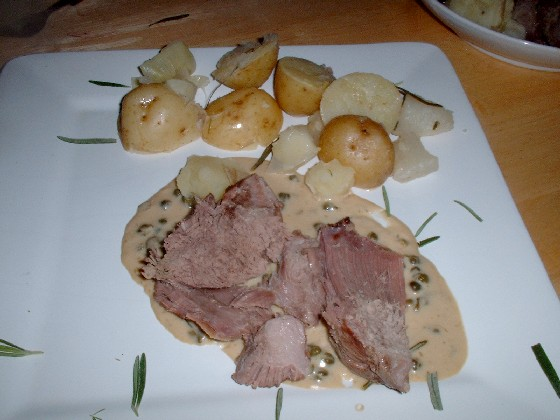mutton with caper sauce