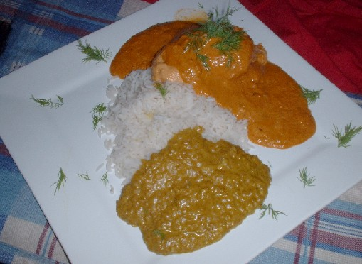 salmon tikka meal