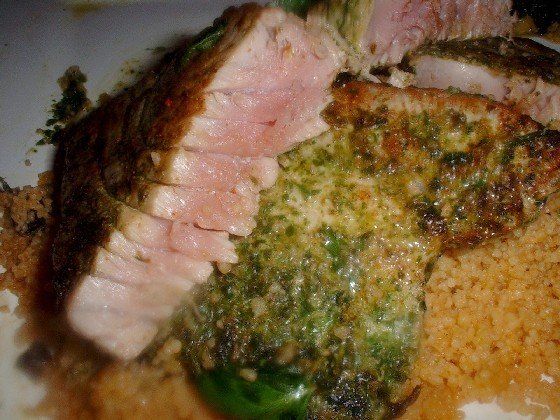coriander crusted tuna steak