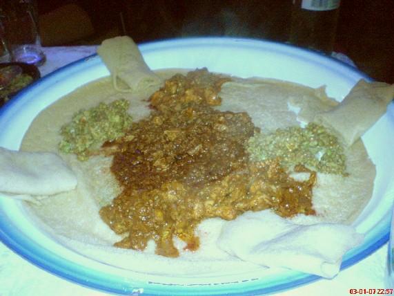 Damera injera and stews