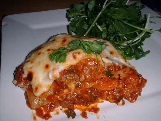 sausage and pepper lasagne