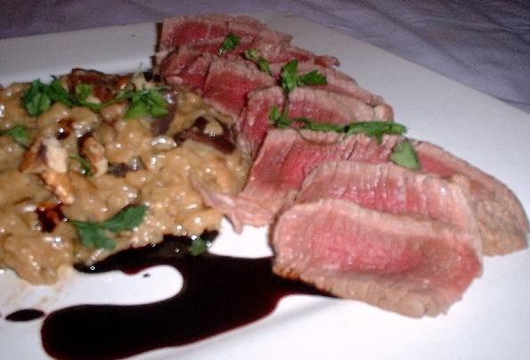 fillet, risotto and jus