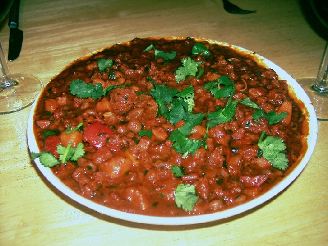chorizo and pinto bean chilli