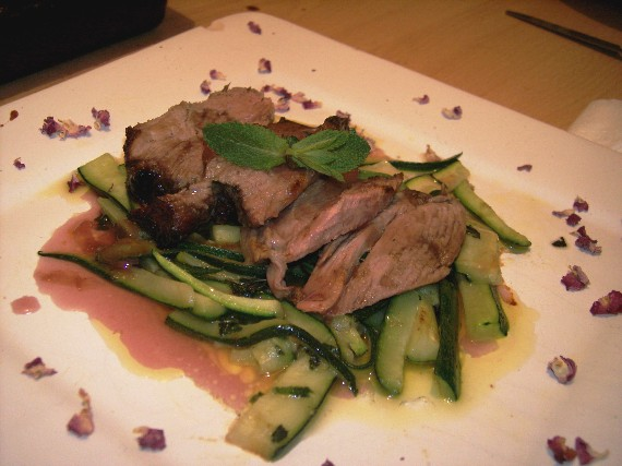 LAMB WITH PINK GARNISH