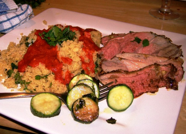 moroccon crusted lamb