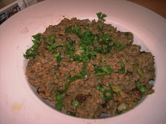 bulgar wheat and chicken liver pilaf