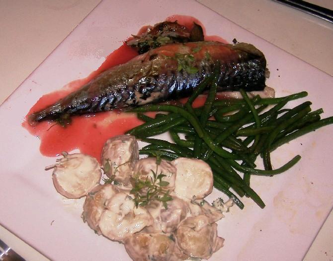 mackerel with gooseberry sauce