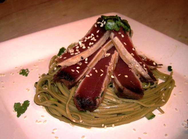 tuna and soba noodles