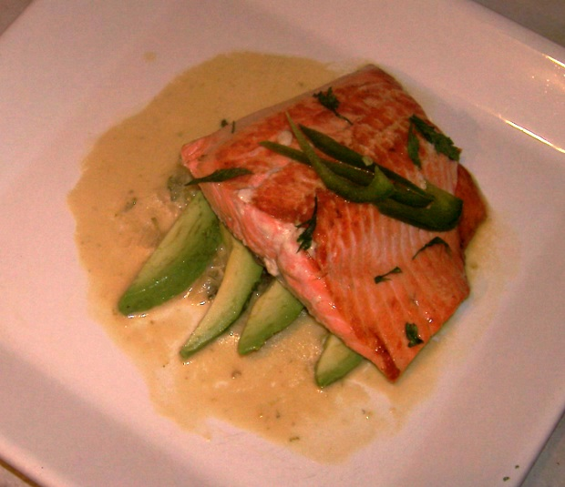 salmon with tequila sauce